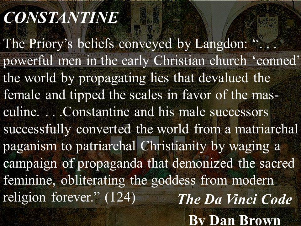 CONSTANTINE The Da Vinci Code By Dan Brown