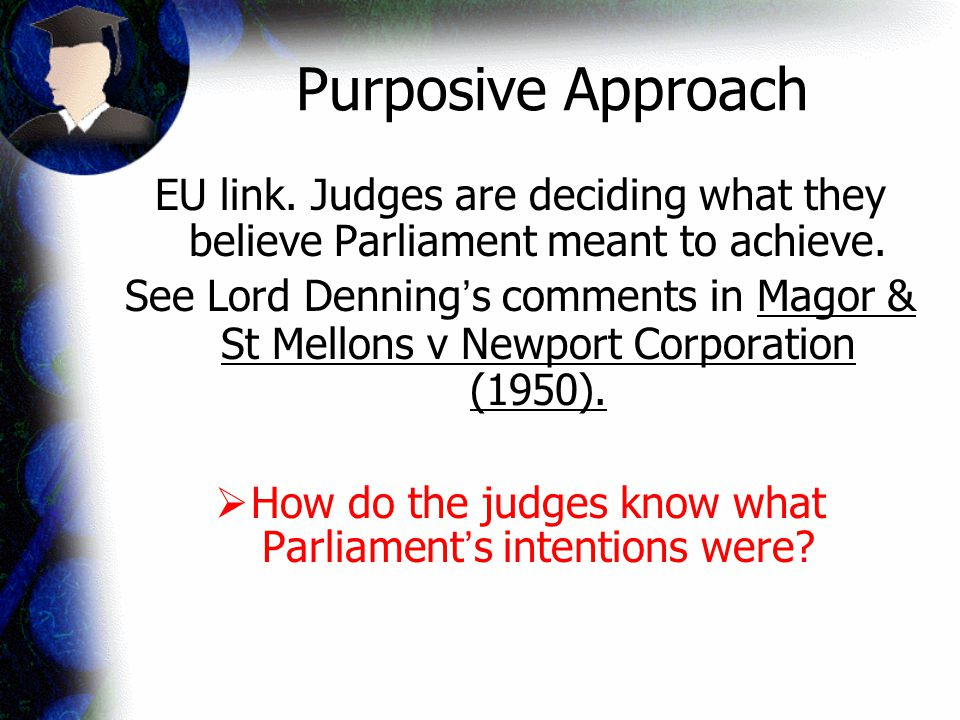 How do the judges know what Parliament's intentions were