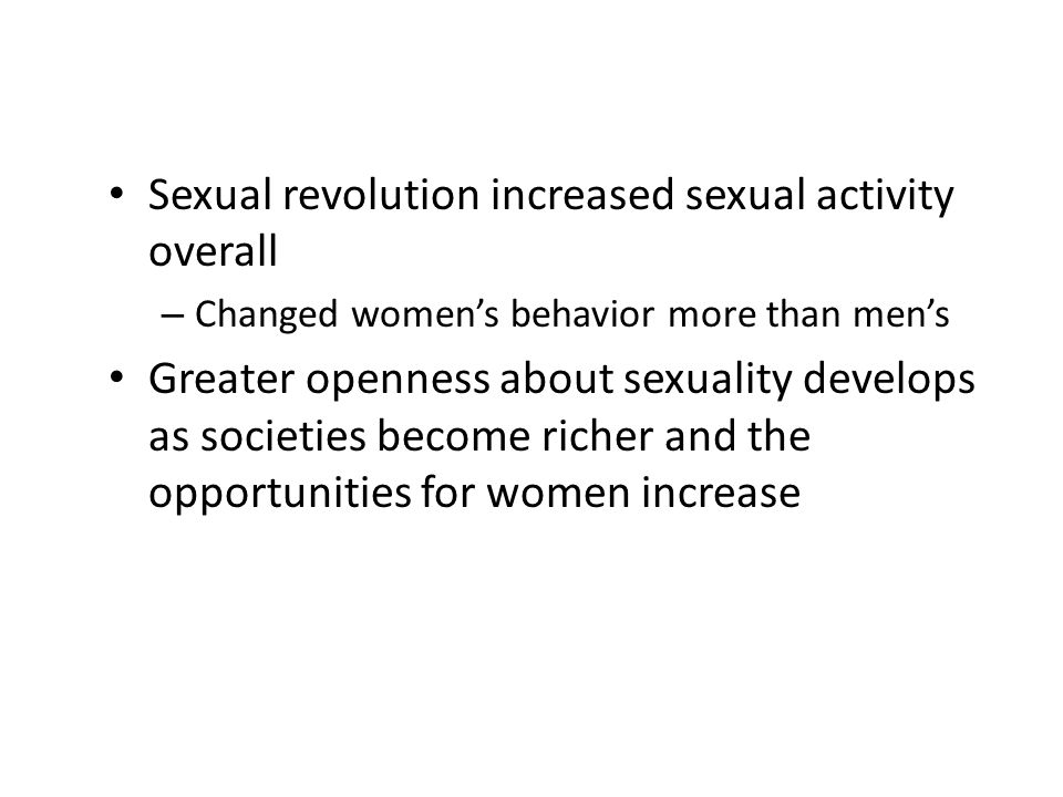 Sexual revolution increased sexual activity overall