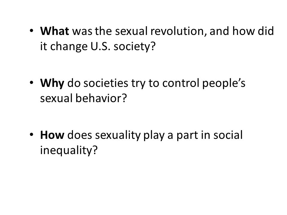 What was the sexual revolution, and how did it change U.S. society