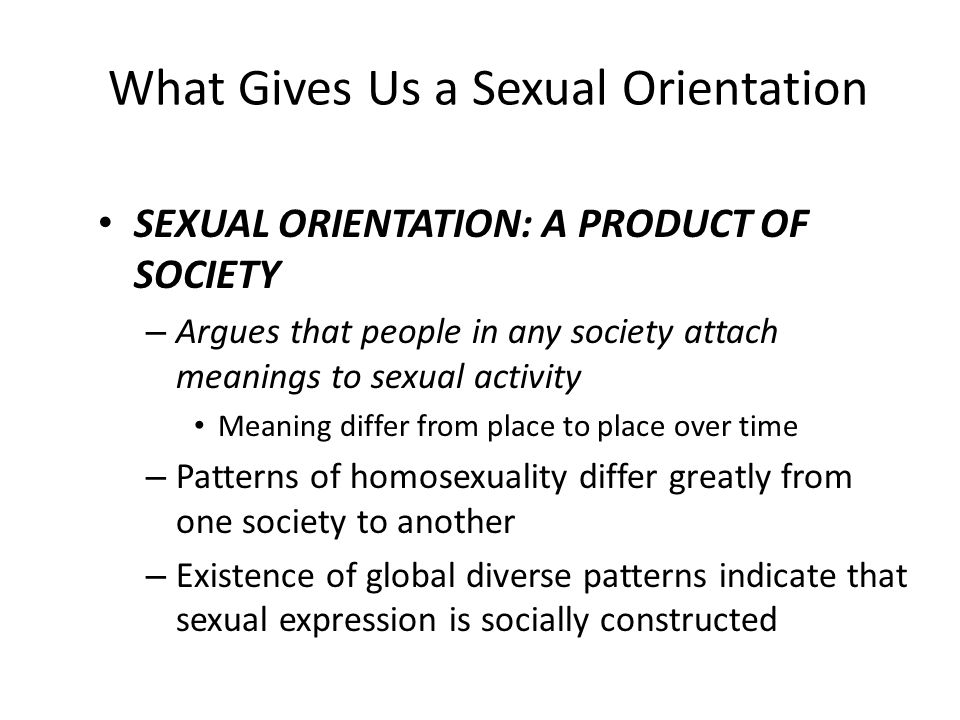 What Gives Us a Sexual Orientation
