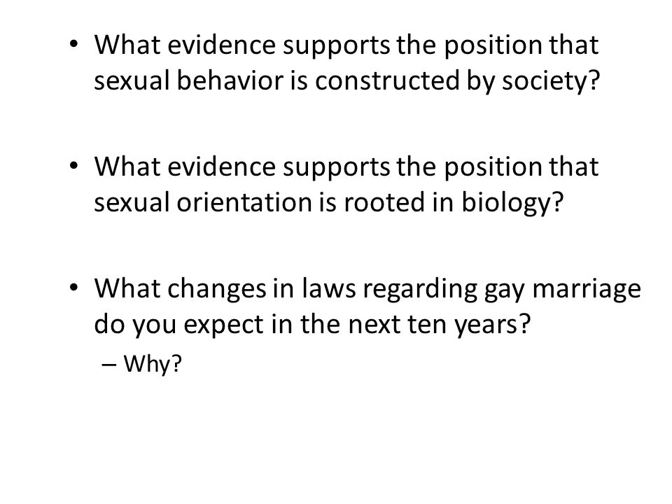 What evidence supports the position that sexual behavior is constructed by society