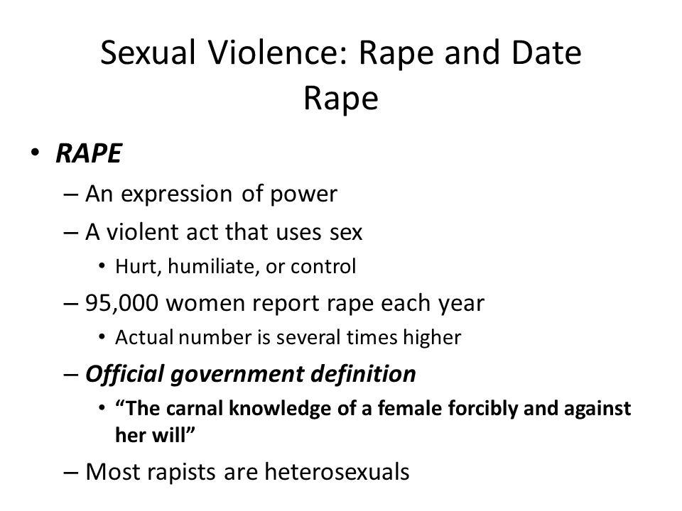 Sexual Violence: Rape and Date Rape
