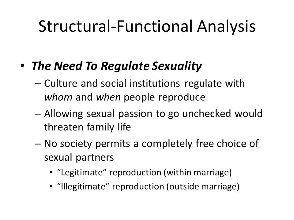 Structural-Functional Analysis