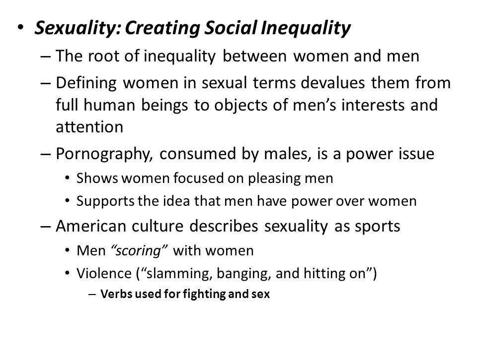 Sexuality: Creating Social Inequality