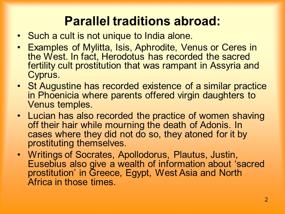 Parallel traditions abroad: