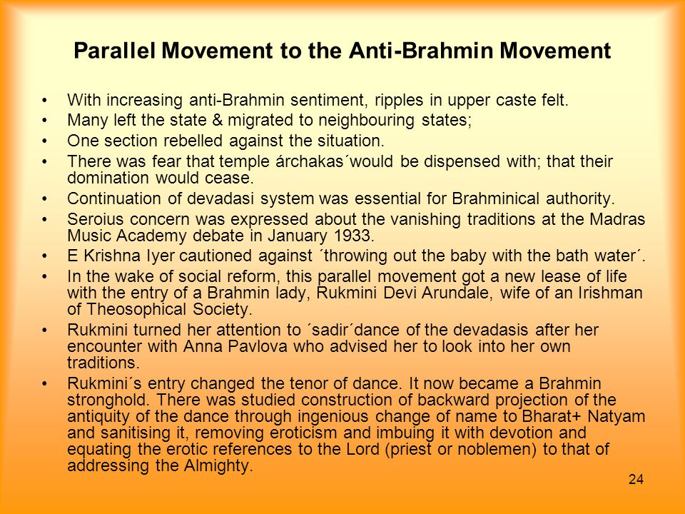Parallel Movement to the Anti-Brahmin Movement