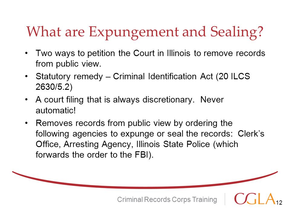 What are Expungement and Sealing