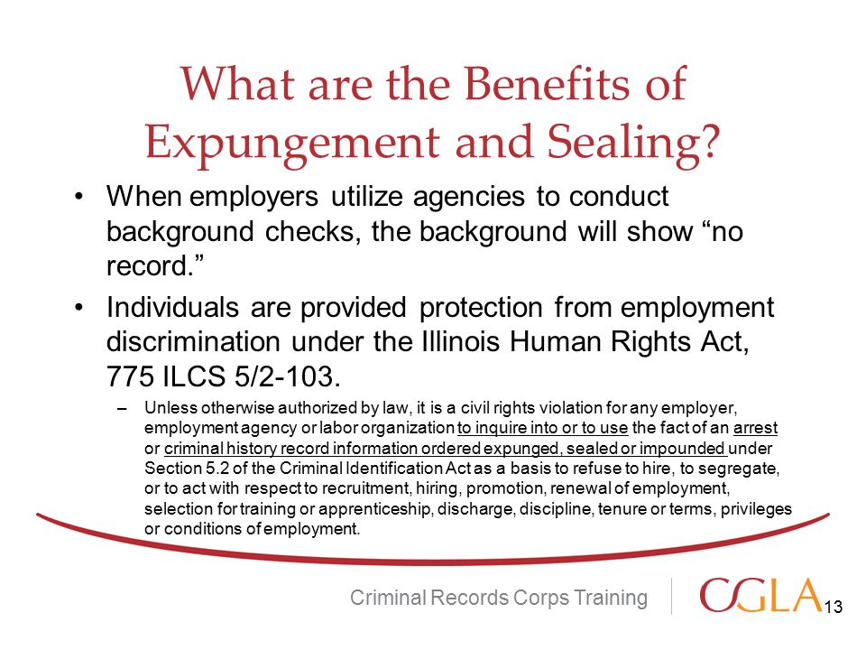 What are the Benefits of Expungement and Sealing