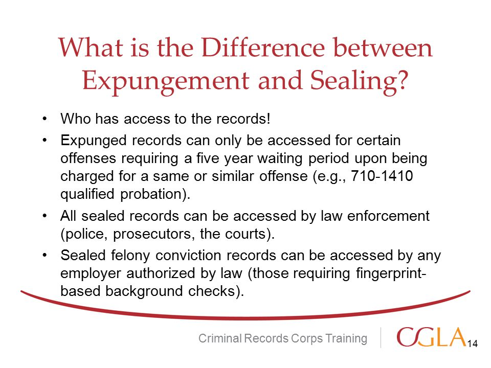 What is the Difference between Expungement and Sealing
