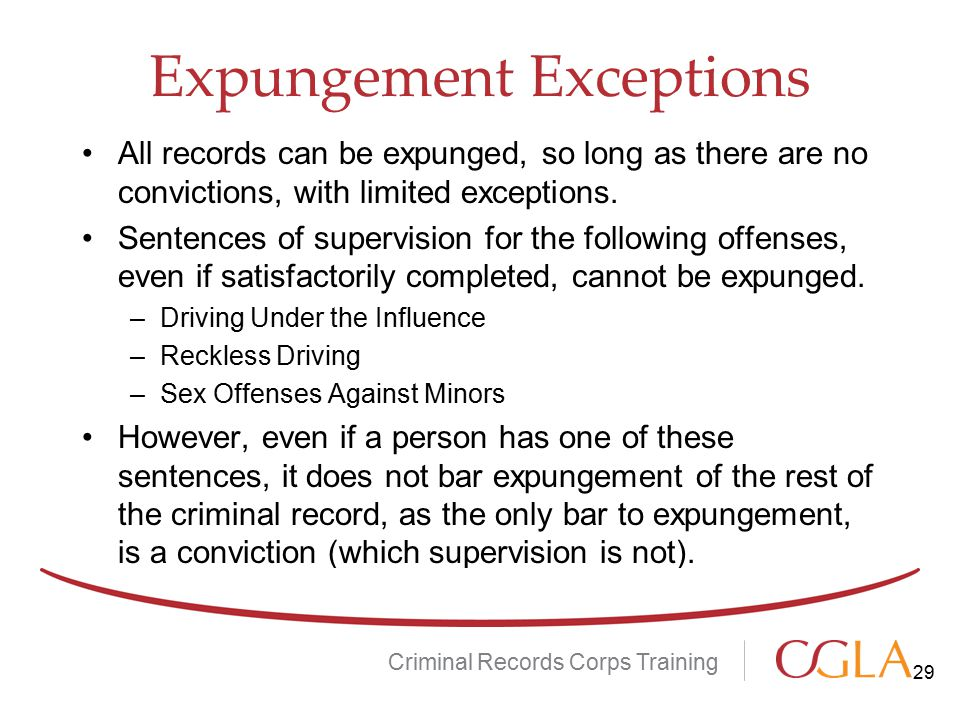 Expungement Exceptions