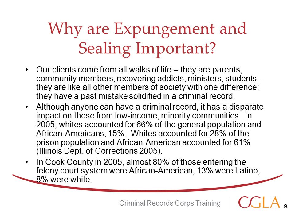 Why are Expungement and Sealing Important