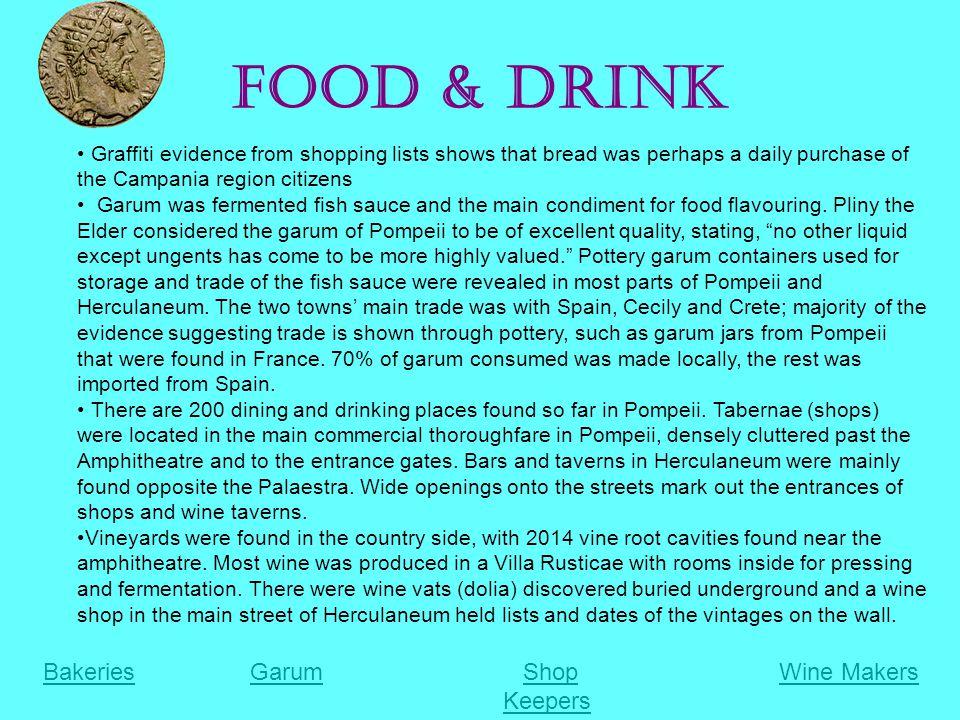 Food & Drink Bakeries Garum Shop Wine Makers Keepers