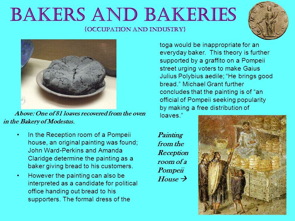 Bakers and Bakeries {occupation and industry}