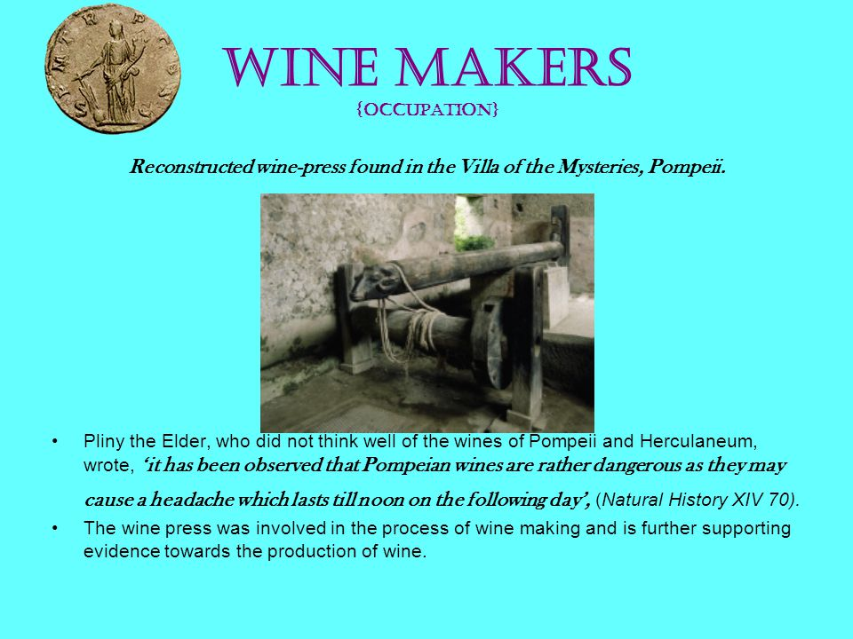 Wine Makers {occupation}