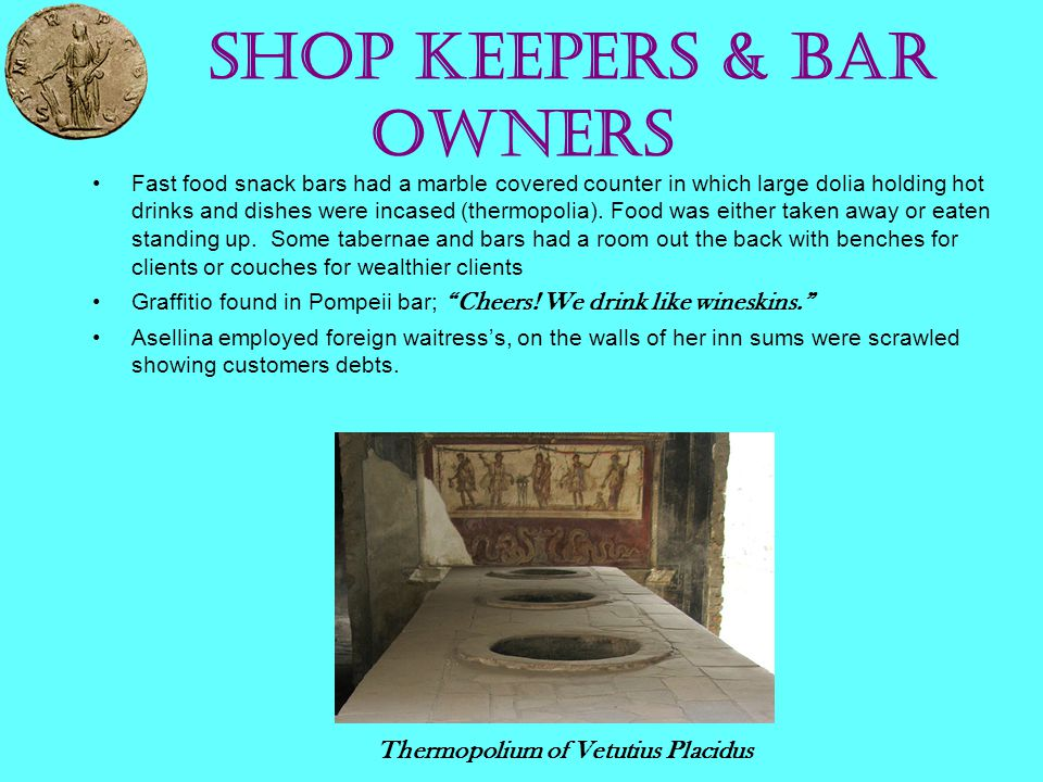Shop Keepers & Bar Owners