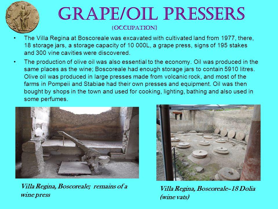 Grape/oil Pressers {OCCUPATION}
