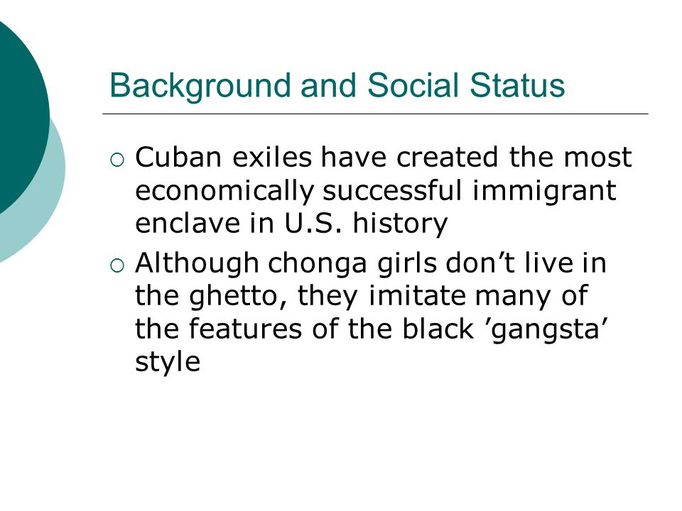 Background and Social Status