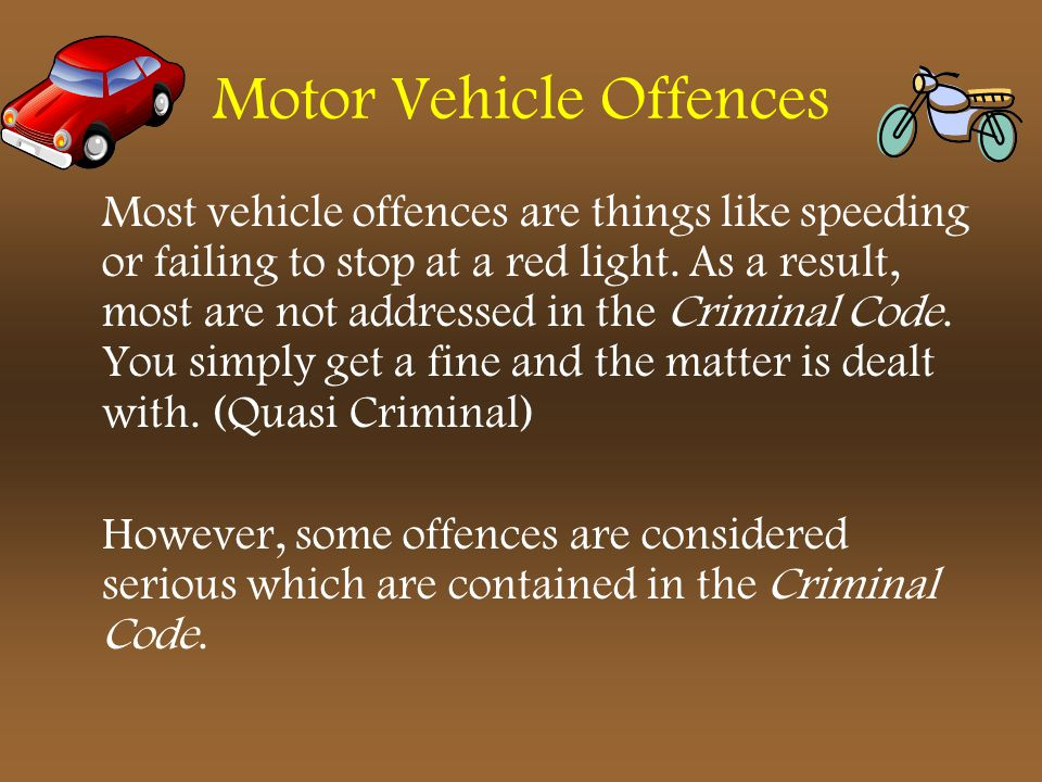 Motor Vehicle Offences