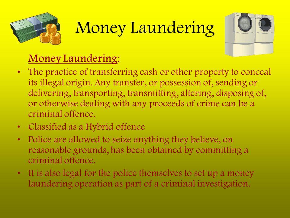Money Laundering Money Laundering: