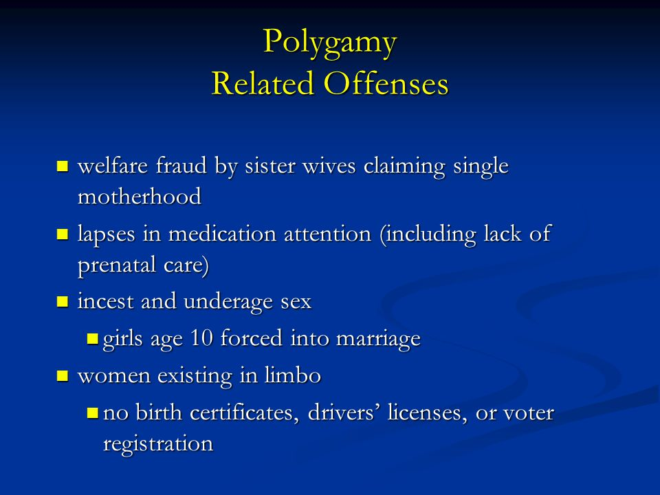 Polygamy Related Offenses