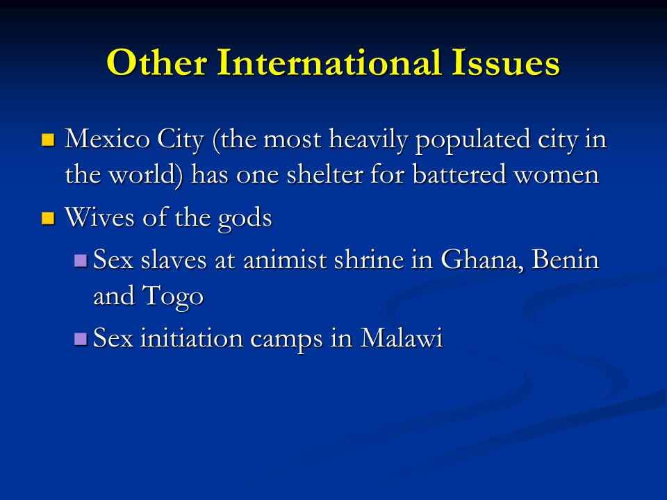 Other International Issues