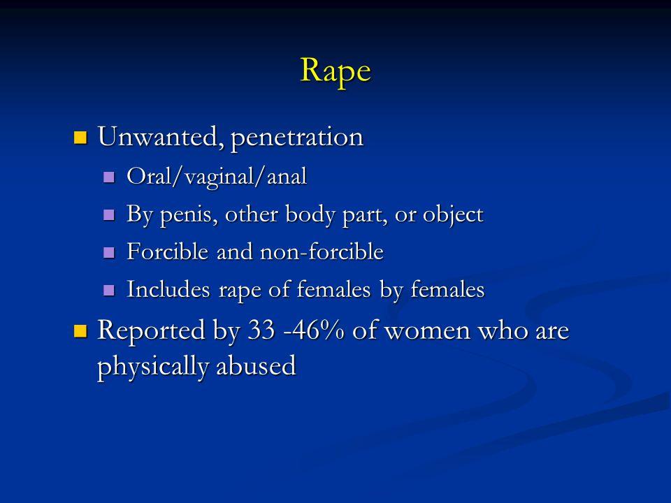 Rape Unwanted, penetration