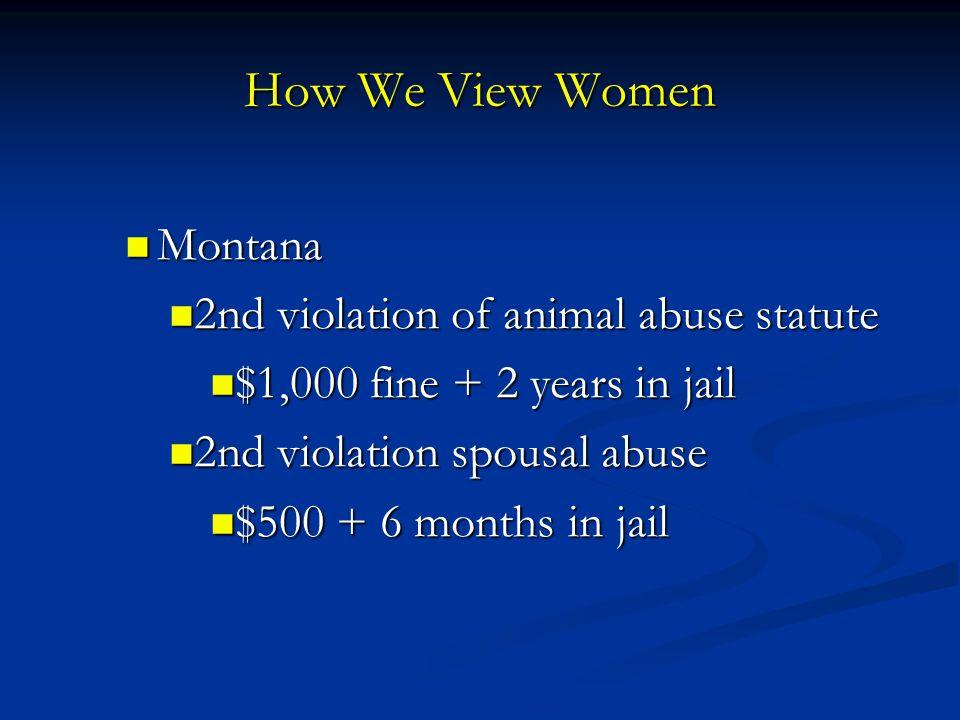 How We View Women Montana 2nd violation of animal abuse statute