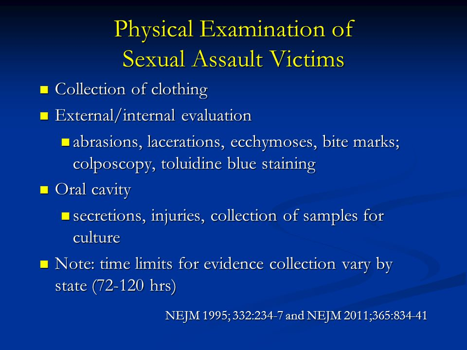 Physical Examination of Sexual Assault Victims