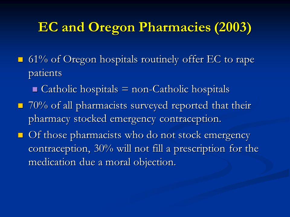 EC and Oregon Pharmacies (2003)