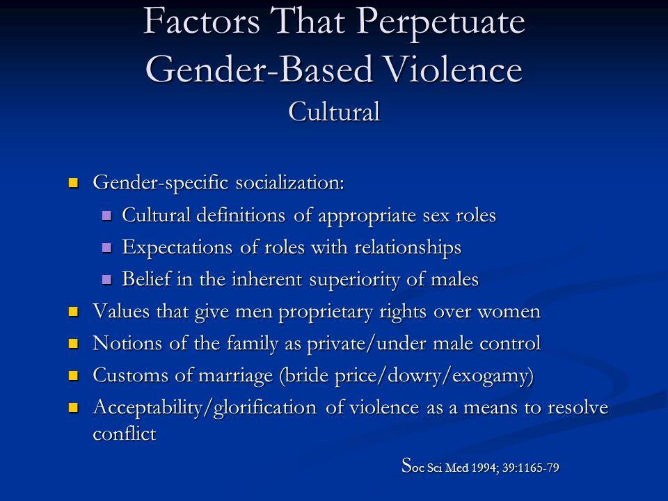 Factors That Perpetuate Gender-Based Violence Cultural