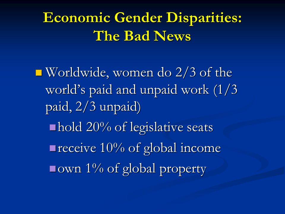 Economic Gender Disparities: The Bad News