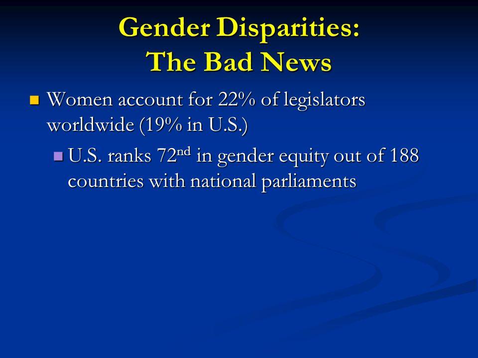 Gender Disparities: The Bad News