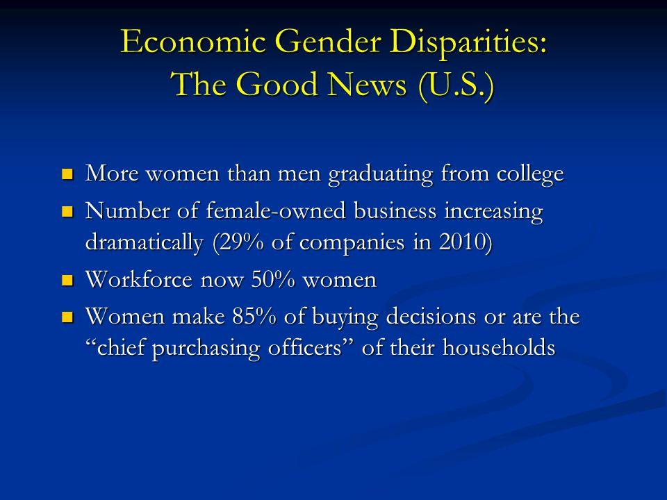 Economic Gender Disparities: The Good News (U.S.)