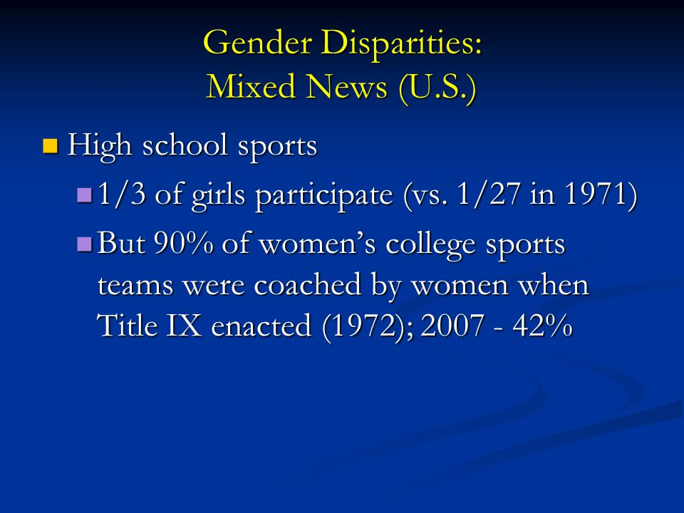 gender disparities Health care disparities occur in the context of broader inequality there are many sources across health systems, providers,.