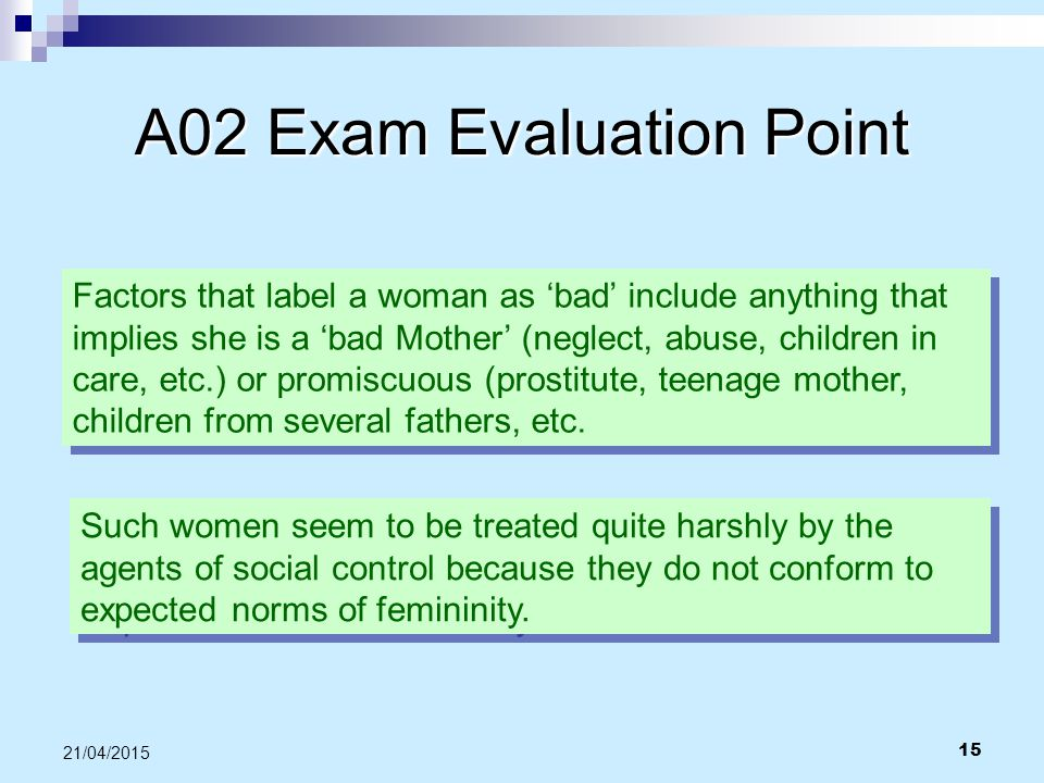 A02 Exam Evaluation Point