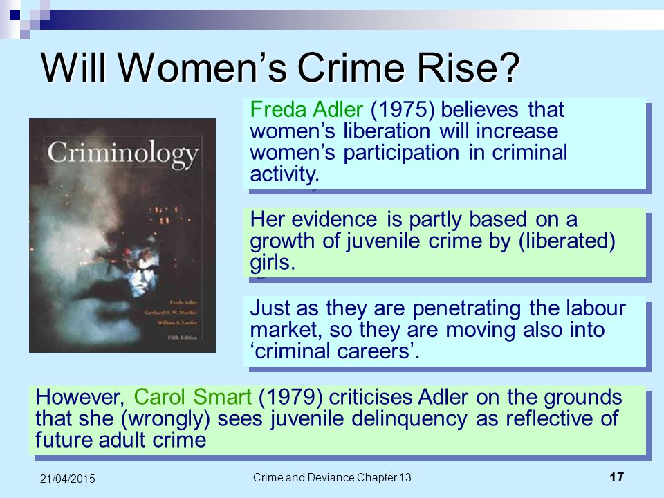 Will Women's Crime Rise