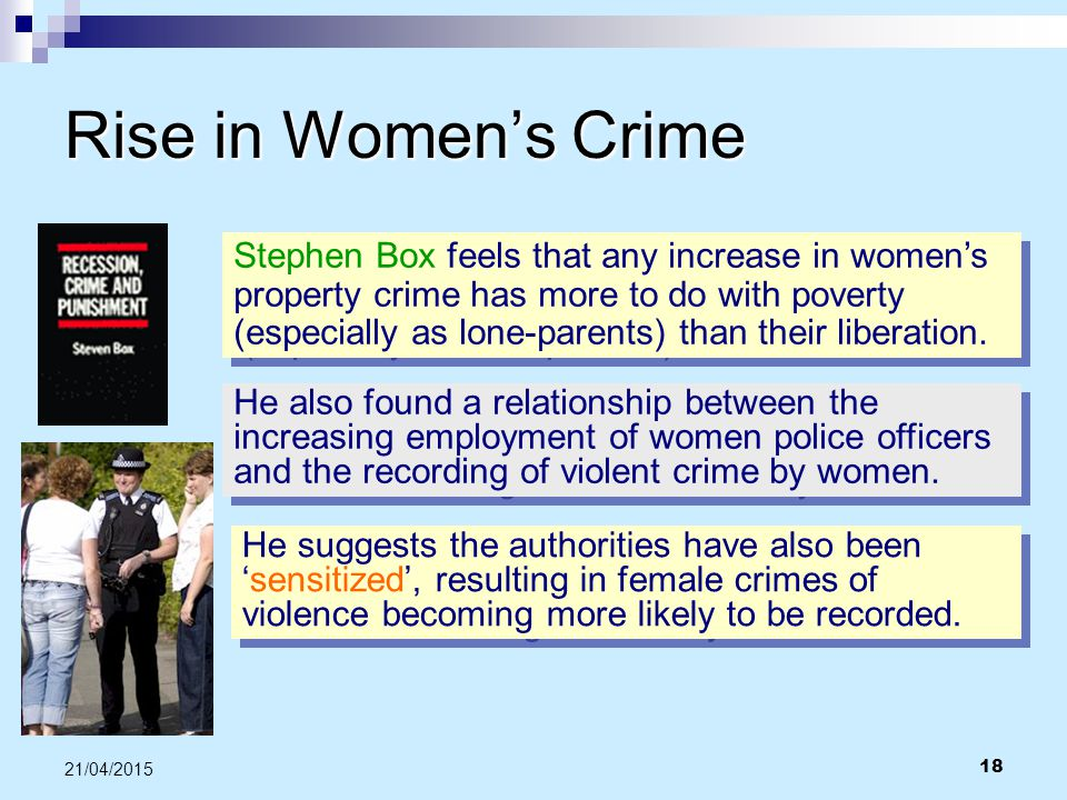 Rise in Women's Crime