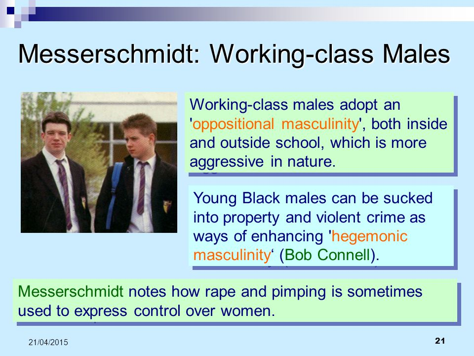Messerschmidt: Working-class Males