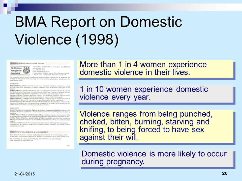 BMA Report on Domestic Violence (1998)