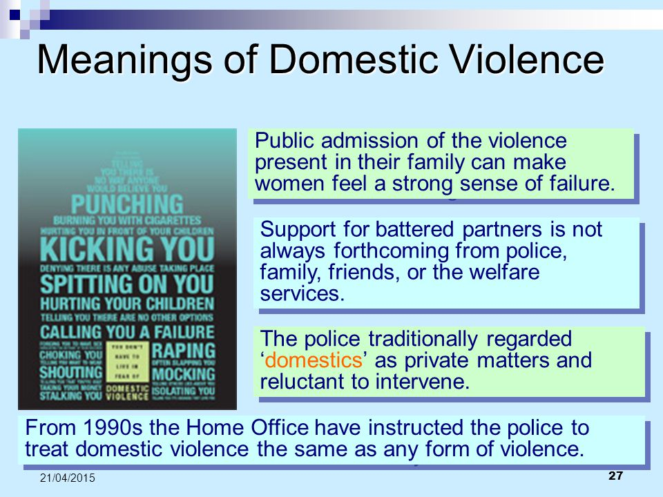 Meanings of Domestic Violence