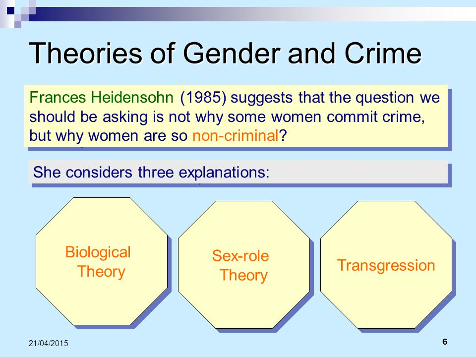 Theories of Gender and Crime