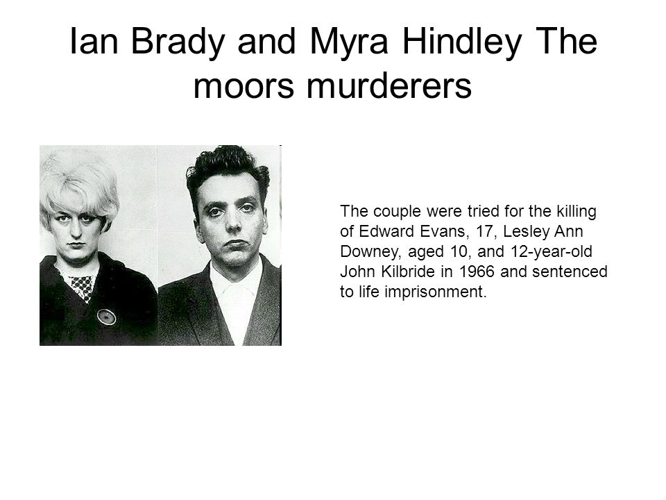 Ian Brady and Myra Hindley The moors murderers