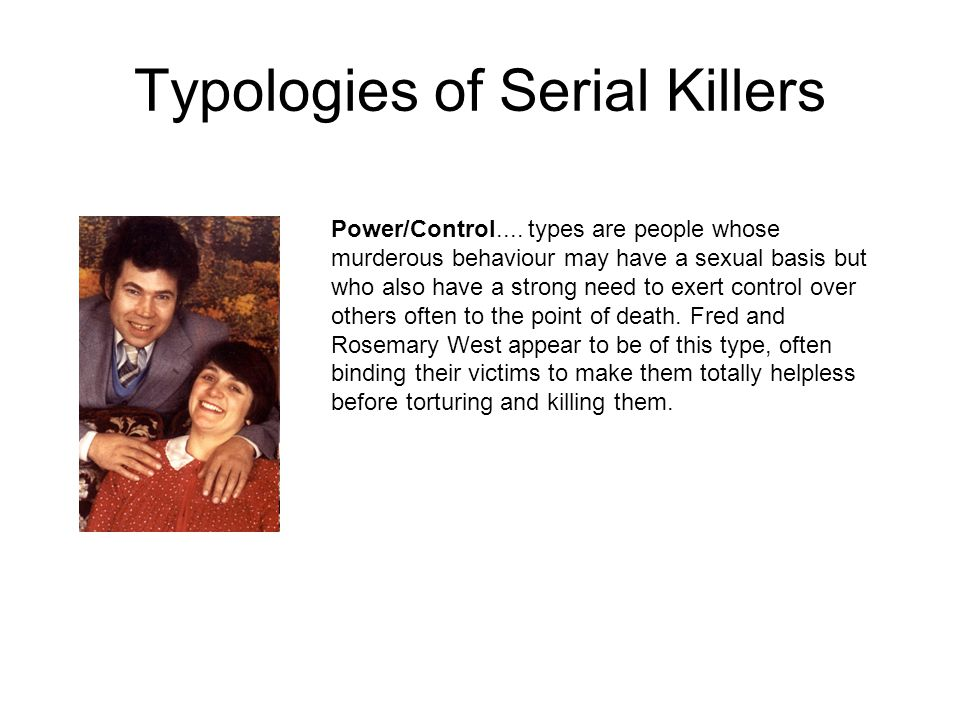 Typologies of Serial Killers