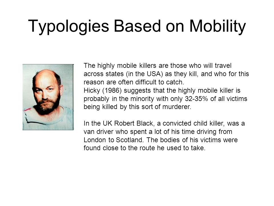Typologies Based on Mobility