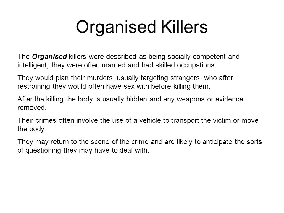 Organised Killers