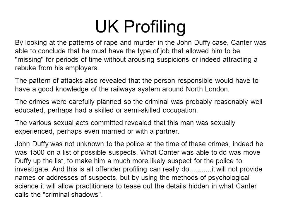 UK Profiling