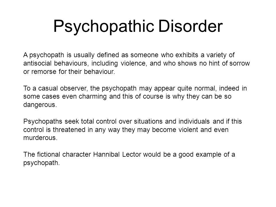 Psychopathic Disorder
