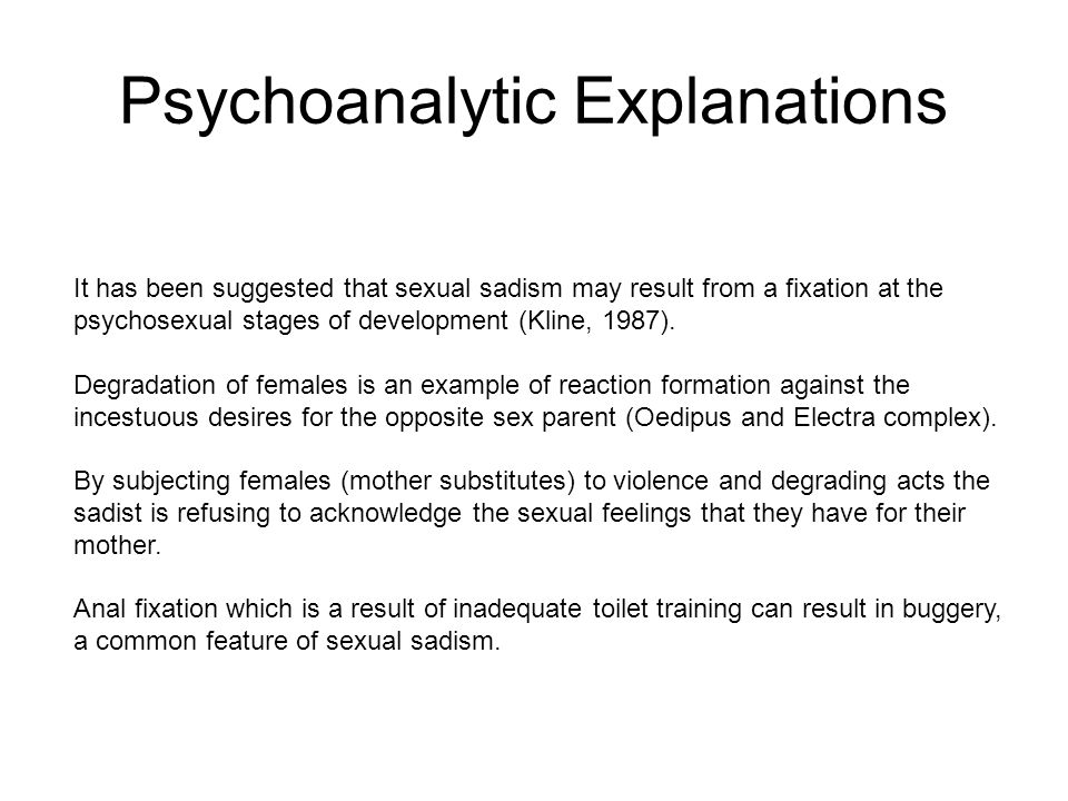 Psychoanalytic Explanations