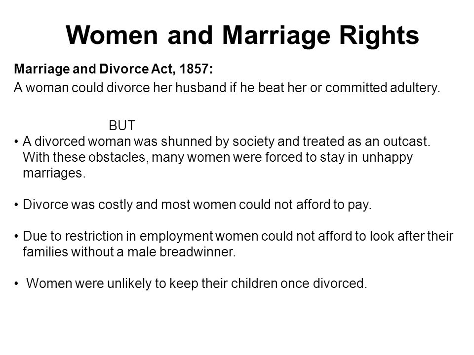 Women and Marriage Rights
